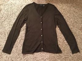 Liz Clairborne Classics Women's Silk Olive Cardigan Sweater, Sz M - $33.99