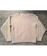 Women's Vintage Fall River Knitting Mills 100% Virgin Wool Cream Sweater... - $49.99