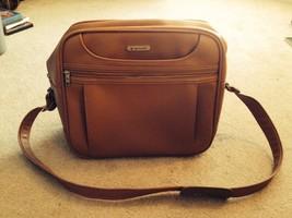 Vintage Mid Century Samsonite Concord Luggage Carry On Travel Satchel, Tan/Beige - $25.00