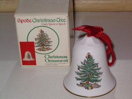 Spode Christmas Tree Bell Shaped Ornament Third in Series with Box VINTAGE - $14.99