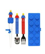 Oxford Block Spoon, Fork, Chapstick and Case set for Toddler Kid Childre... - $29.69