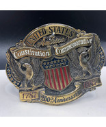 CONSTITUTION COMMEMORATIVE BELT BUCKLE sold brass limited edition usa Am... - $27.72