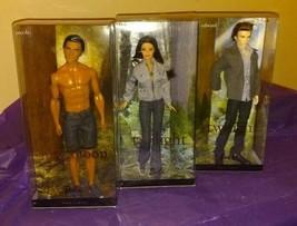 The Twilight Saga Barbie Doll Lot, Edward, Bella, + Jacob 2009 - $68.99