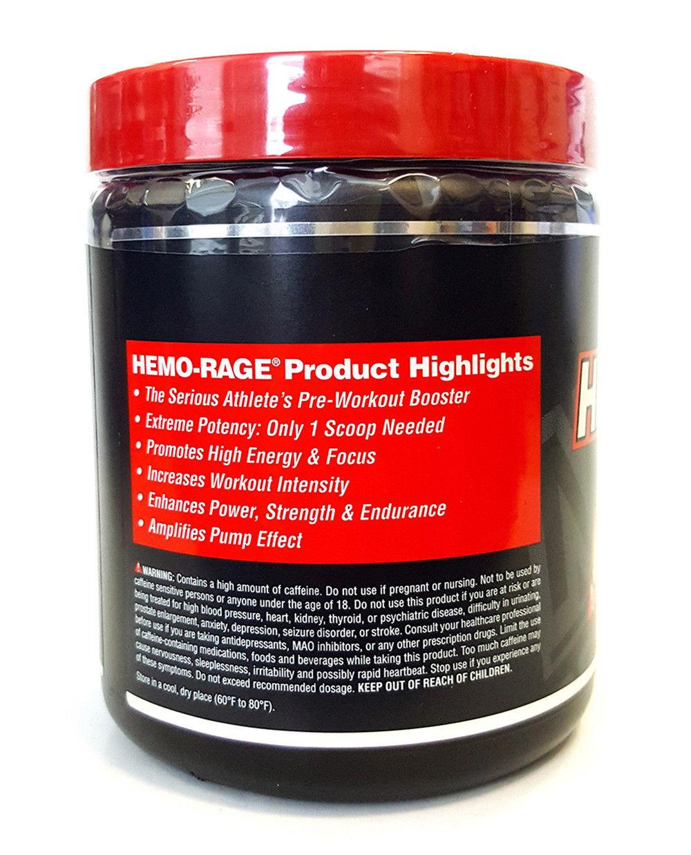 Nutrex Hemo Rage Black Preworkout Detonator Ultra Concentrate 255g Frut Punch