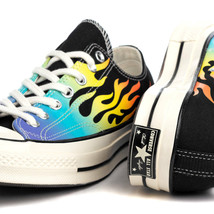 Converse Chuck 70 Ox Flames Archive Print Canvas 164407C Black/Turf Orange/Egret image 2