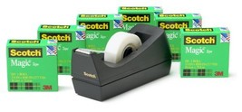 Scotch Magic Tape with Black Dispenser, Standard Width, Trusted Favorite... - $15.07