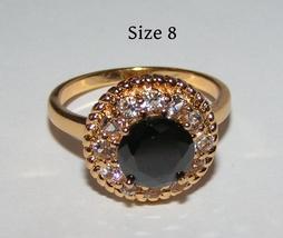 Black Zircon Fashion Ring Free Shipping - $17.00