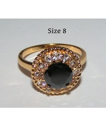 Black Zircon Fashion Ring Free Shipping - $17.00