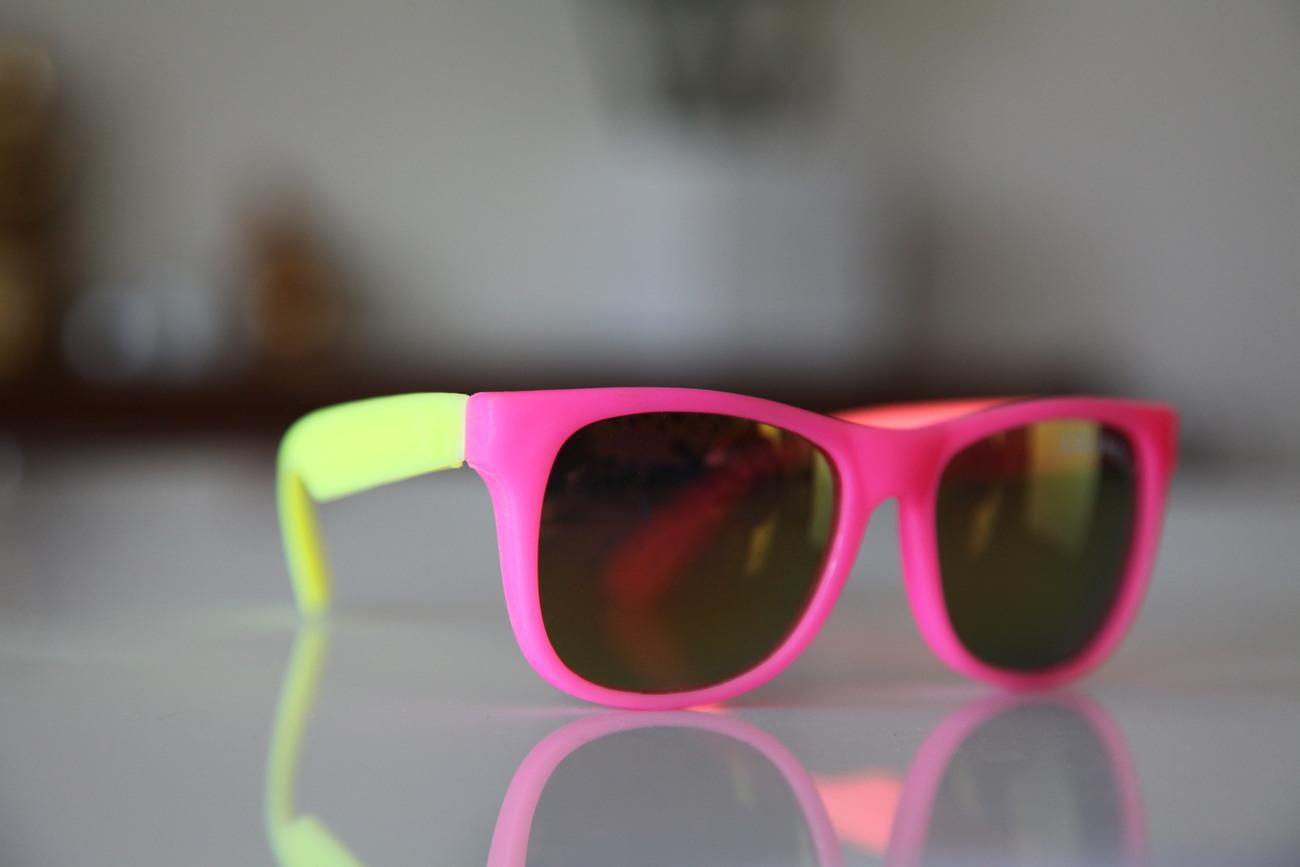 Classic Tortoise Sunglasses Neon Pink/ Rubber/ Orange/ Lemon/ Iridescent Lenses