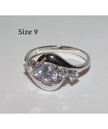 White Topaz Fashion Ring Free Shipping - $12.00