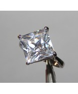 Big White Topaz Solitaire Ring Free Shipping - $12.00