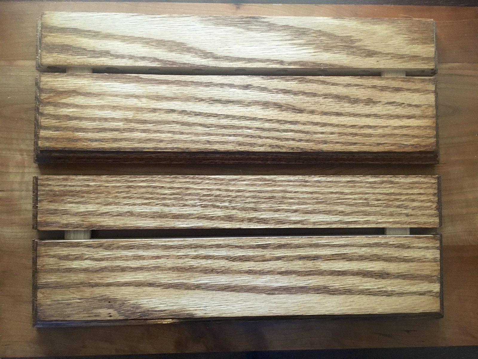 Primary image for floating shelves 12 x 4 x 3/4 handcrafted out of sold red oak wood, set of two