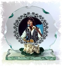 David Cassidy, How Can I Be Sure, Cut Glass Round Plaque Limited Edition #1 - $32.07