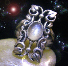 Haunted Ring Golden Luna Moon Fire Raise Wealth Magick Alexandria's Magickal - $9,337.77