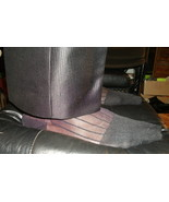 NEW Mens Sheer Nylon Black Thick N Thin (TNT), Cap Toe & Heel, Mid-Calf ... - $5.00