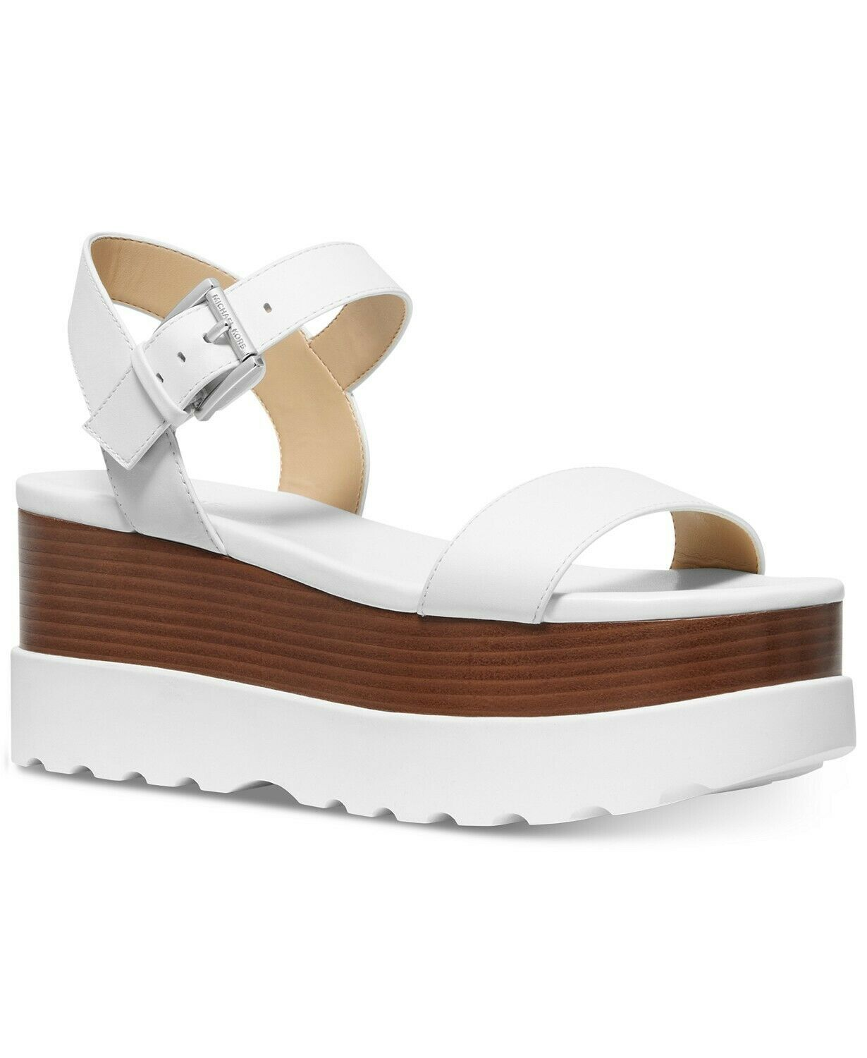 MICHAEL Michael Kors Marlon Flatform Sandals Optic White Mult Sz