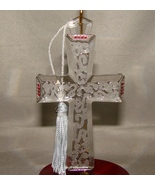 Lenox Pave Jewels Satin Crystal Cross Ornament - $35.00