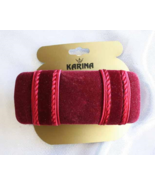 Karina Elegant Cranberry Velvet Hair Clip Barre... - $14.95