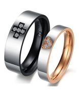 Couples Matching Titanium Steel Wedding Bands Free Shipping - $60.00