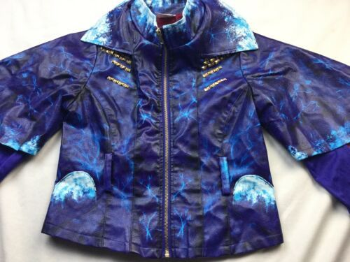 Disney Store Descendants 2 Evie Girls Sz 9 10 Faux Leather Moto Jacket -No Belt image 2