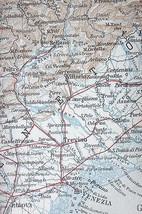 1909 MAP ORIGINAL Baedeker - NORTHERN ITALY - $7.43