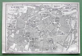 1904 MAP ORIGINAL Baedeker - POLAND Liegintz Le... - $7.43
