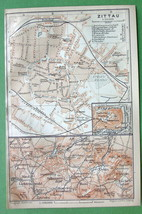 1904 (2) Two MAPS ORIGINAL Baedeker - GERMANY Z... - $7.43