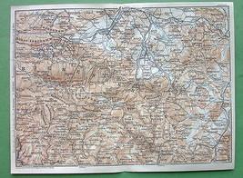 1904 MAP ORIGINAL Baedeker - CZECH Republic Pol... - $7.43
