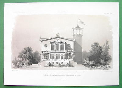 ARCHITECTURE PRINT : Berlin Villa of Industrialist Heckmann