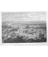 GERMANY Berlin Aerial View - 1860 Original Engr... - $37.13