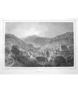 GERMANY City of Ruhla - 1860 Original Engraving... - $33.66