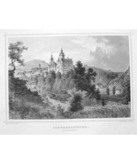 GERMANY Schwarzenberg Castle in Erzgebirge - 18... - $43.56