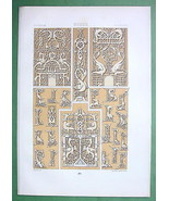 RUSSIA Slavic Ornaments 16th Century - TINTED Litho Print by Racinet - $25.74