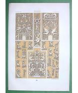 RUSSIA Slavic Ornaments 16th Century - TINTED L... - $25.74