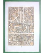 RUSSIA Ornamental Borders in ENgravings - TINTED Litho Print by Racinet - $25.74