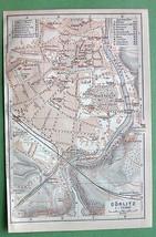 1904 MAP ORIGINAL Baedeker - GERMANY Gorlitz To... - $7.43