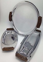 Kromex Sculptura 3 Piece serving set Chrome Rou... - $35.99