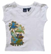 Basic Editions Size 7/8 Girls Surf's Up Hawaiian Top - $4.99