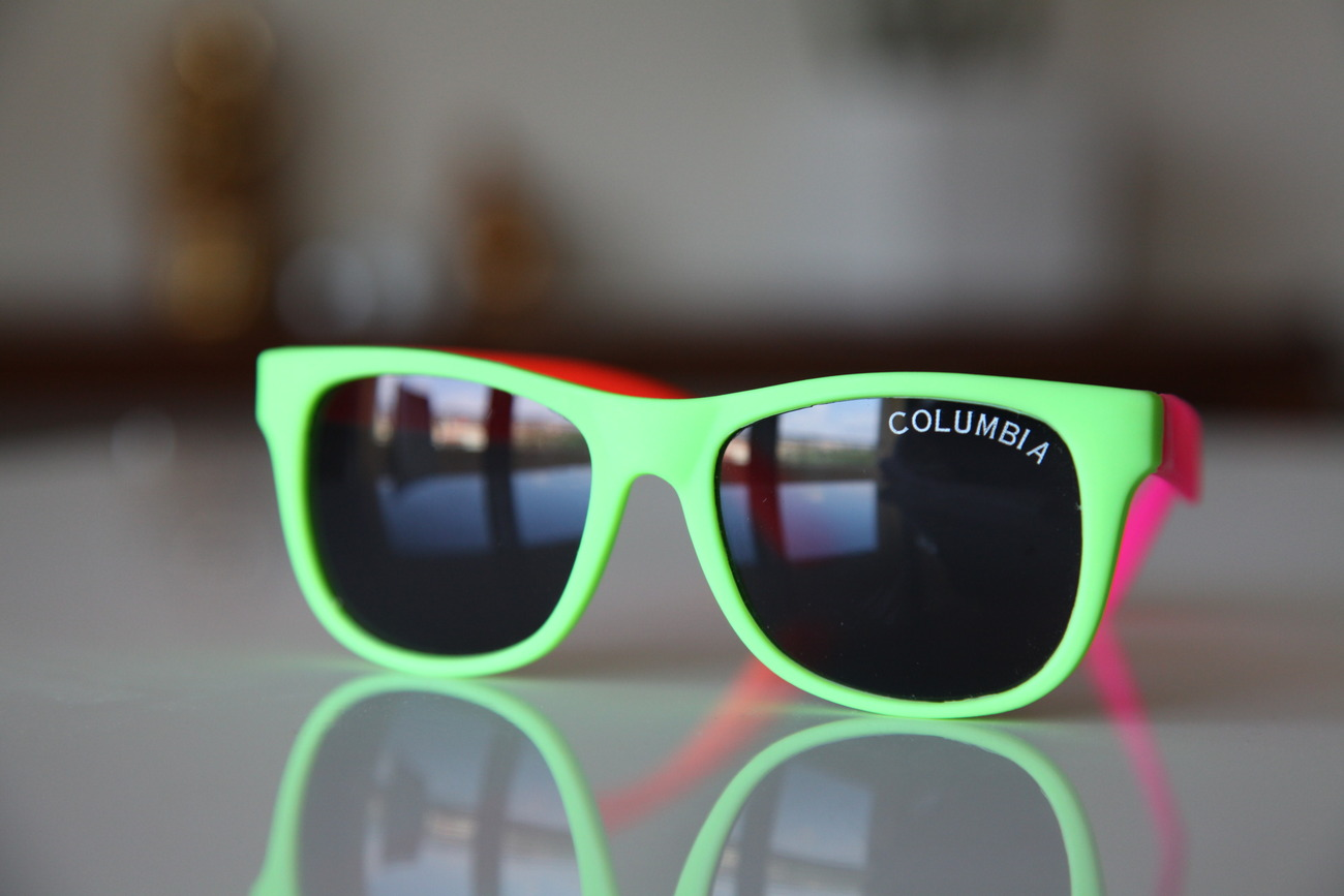 Classic Tortoise Sunglasses Neon Lime/ Rubber/ Pink/ Orange/ Dark Lenses
