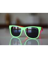 Classic Tortoise Sunglasses Neon Lime/ Rubber/ Pink/ Orange/ Dark Lenses - $14.00