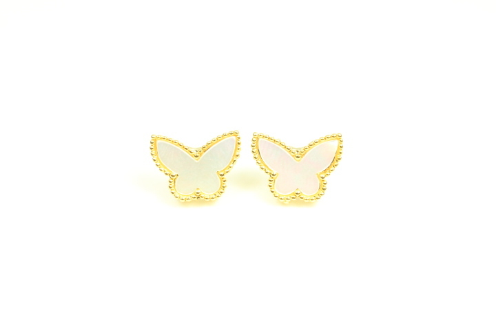Primary image for  Mini Mother of pearl butterfly earings.