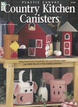 Country Kitchen Canisters Plastic Canvas Pattern Booklet HWB 181065 Silo... - $4.95