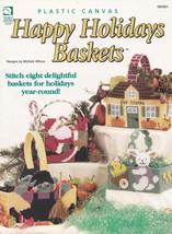 Happy Holidays Baskets, Plastic Canvas Pattern HWB 181051 Witch Santa & ... - $3.95