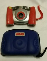 Fisher Price Digital Camera Kids Red Includes Blue Carry Case & 32mb SD ... - $15.48