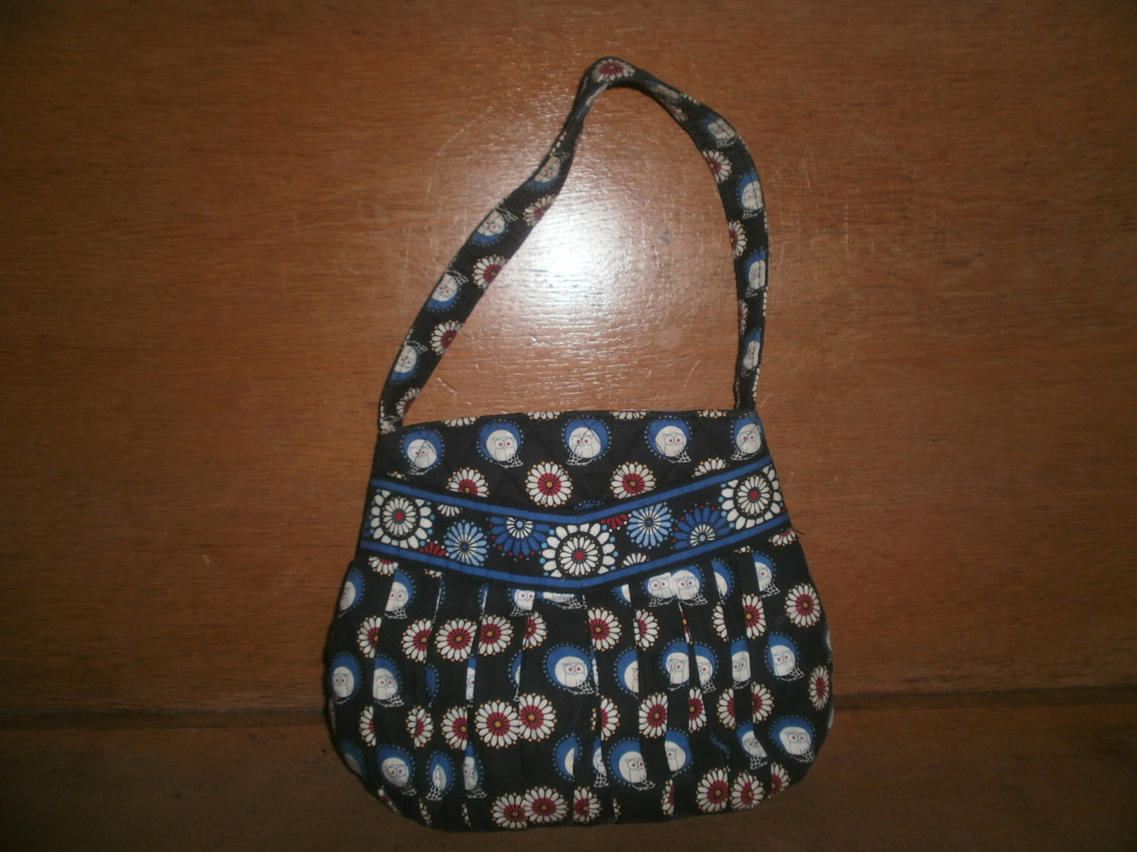 Small Vera Bradley Purse , Blue with Owls and Flowers