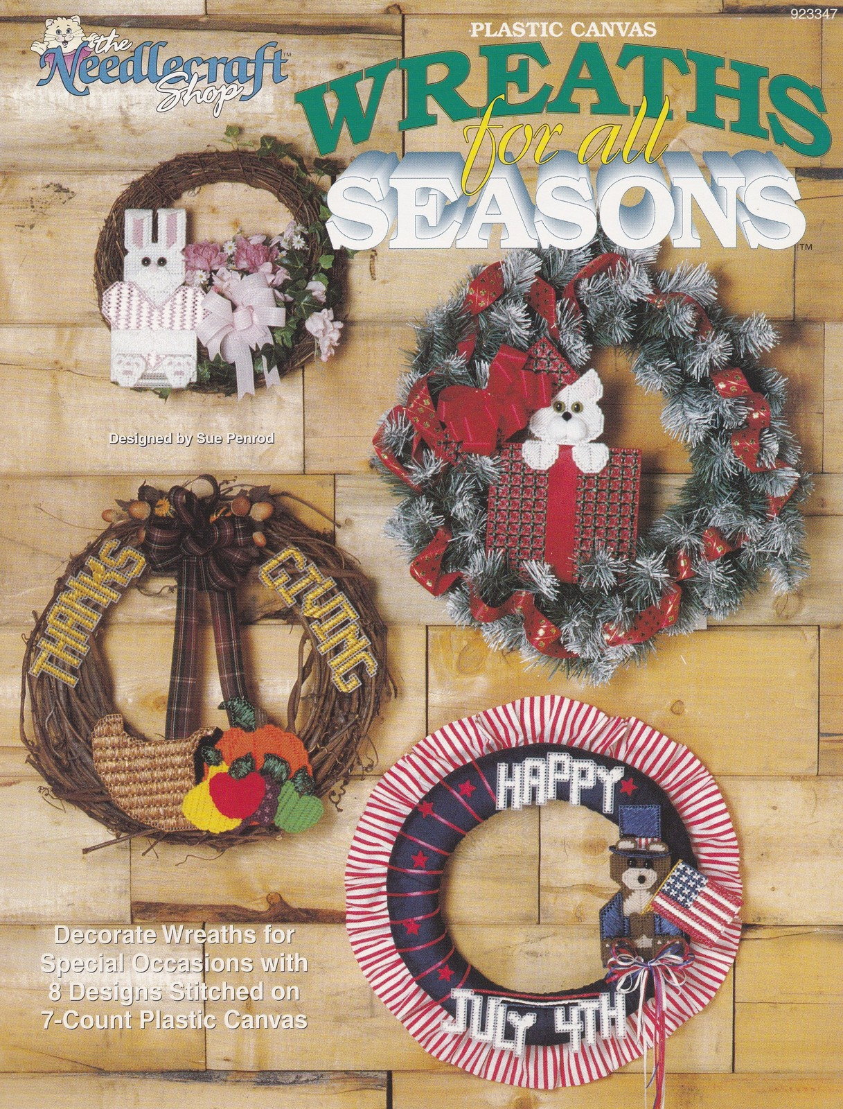 Wreaths For All Seasons, Plastic Canvas Pattern Book TNS