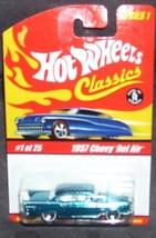 Hot Wheels Classics 1957 CHEVY BEL AIR Diecast Car BLUE NEW Series 1 2004 - $7.96