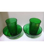 Anchor Hocking Green Oatmeal Sandwich Glass Lot - $22.00