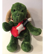 Build a Bear Trekkin Turtle Green Plush Toy Brown Shell BackPack and Red... - $29.99