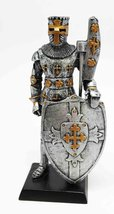 """DOLL HOUSE MINIATURE 5"""" MEDIEVAL KNIGHT WITH BARDICHE FIGURINE SUIT OF A... - $16.82"""